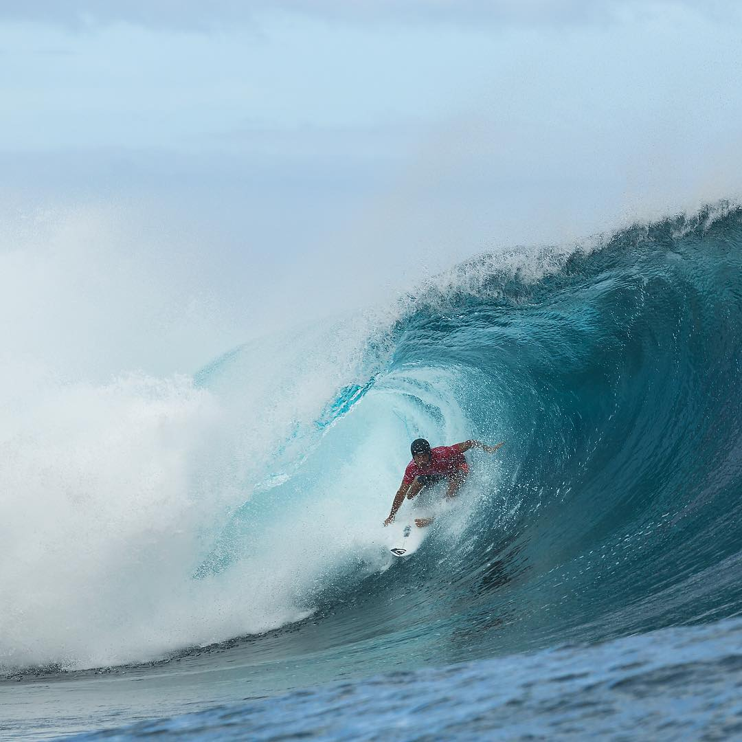 @floresjeremy is your 2015 #BillabongProTahiti champion! A huge congratulations to him and also to @cjhobgood, the recipient of the Andy Irons Commitment Award. #AIForever @wsl