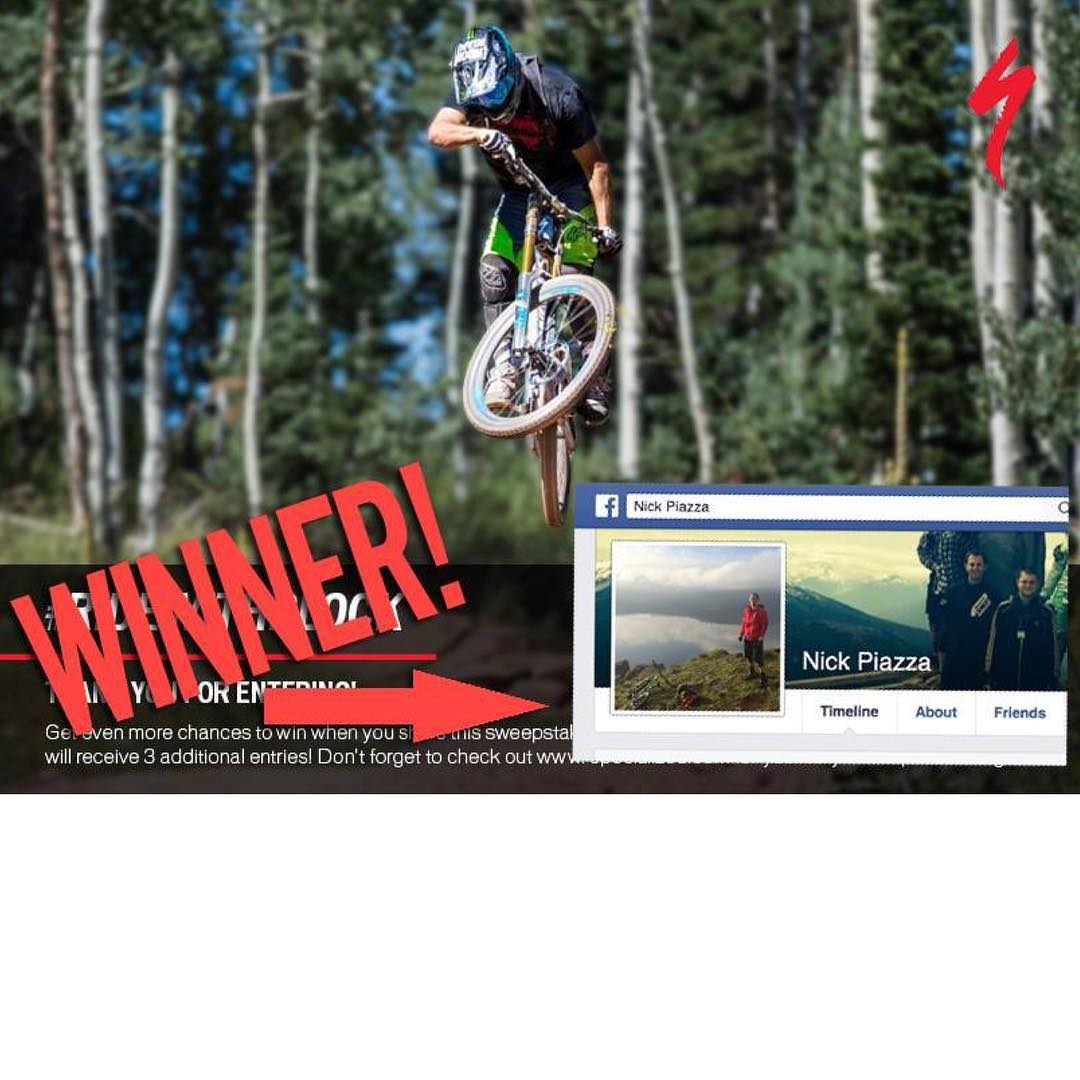 CONGRATS to Nicholas Piazza, winner of the Specialized Bicycles #ridewithblock giveaway! That means he's going to get flown out to Park City to come ride my favorite trails here, check out the Hoonigan Racing HQ, and more. Stoked to have him out here,...