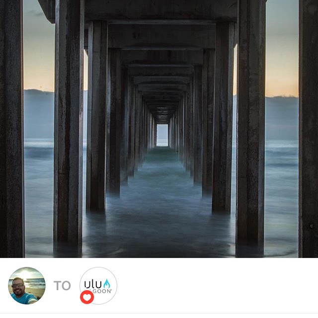 Scripps Pier by ulu supporter @danpulido11 ! Beautiful Capture Dan! Thank you for sharing. #uluLAGOON #scrippspier #lajolla #ca #beachculture #danpulido