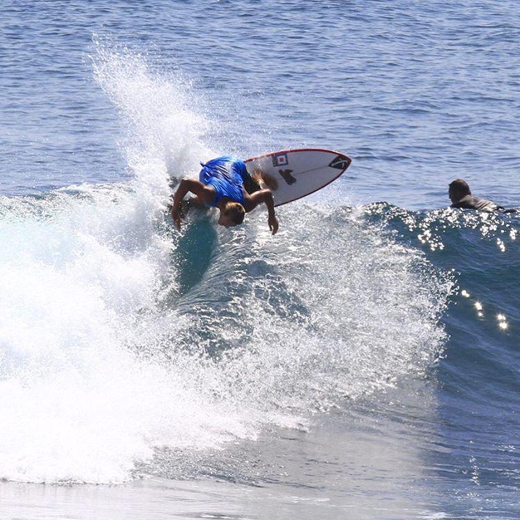 Wardo blasting it backside in Bali.