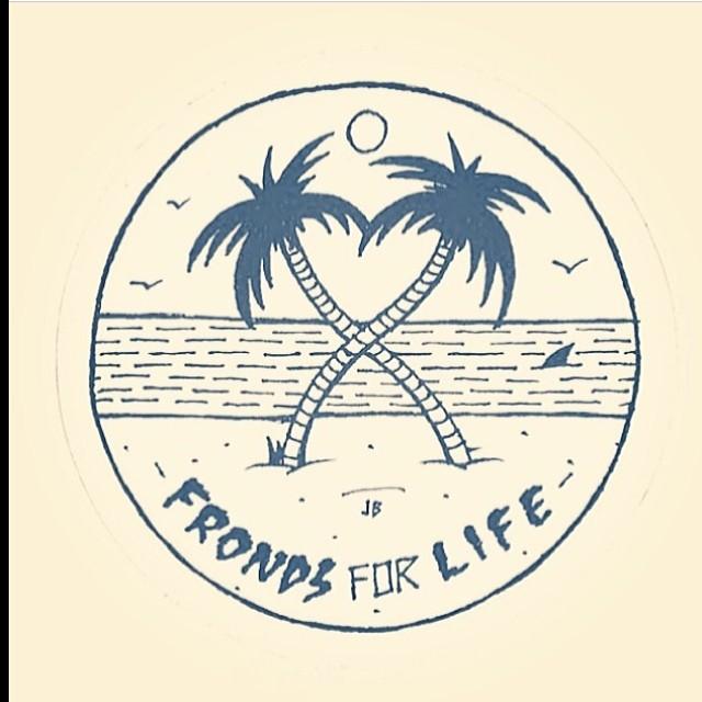V-day por @jamiebrowneart #featuredartist #valentine #palms #volcom #art #frondsforlife #love #friends