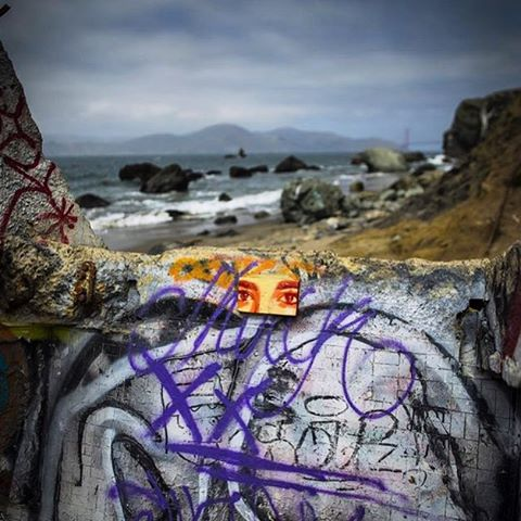 @g52cube • • Outskirts of San Francisco • • #atx #austintx #g52 #stencil #art #streetart #eyes #sanfrancisco