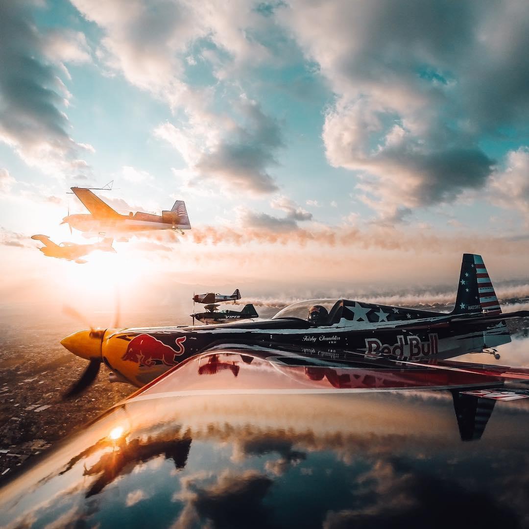 @kirbychambliss flying off into the sunset! Share your best photos with us by clicking the link in our profile. #gopro #flight #sunset