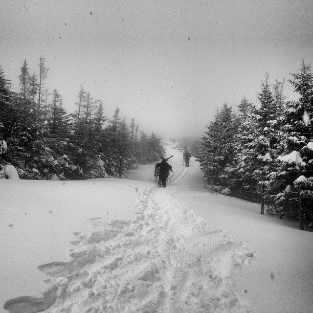 Pow day @cannonmountain #hike #mittersill #powday #cannonmountain