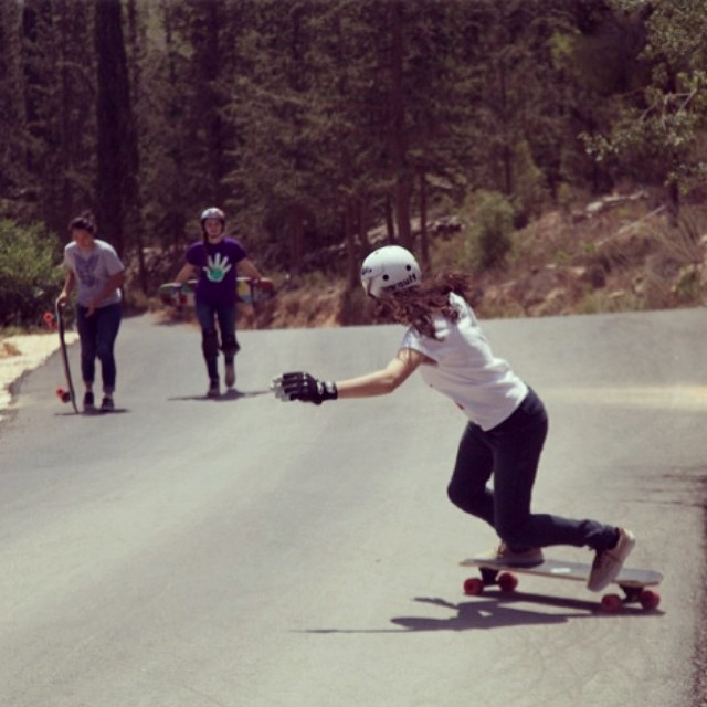 The new OPEN clip for @vaultskate & #IncusTrucks feat. @jennarus is out! Go check www.longboardgirlscrew.com to see Jenna rocking plus her best moments of the trip in photos. @gadoreitor snap. #lgcopen #kangarusso #hipsterswhoskate