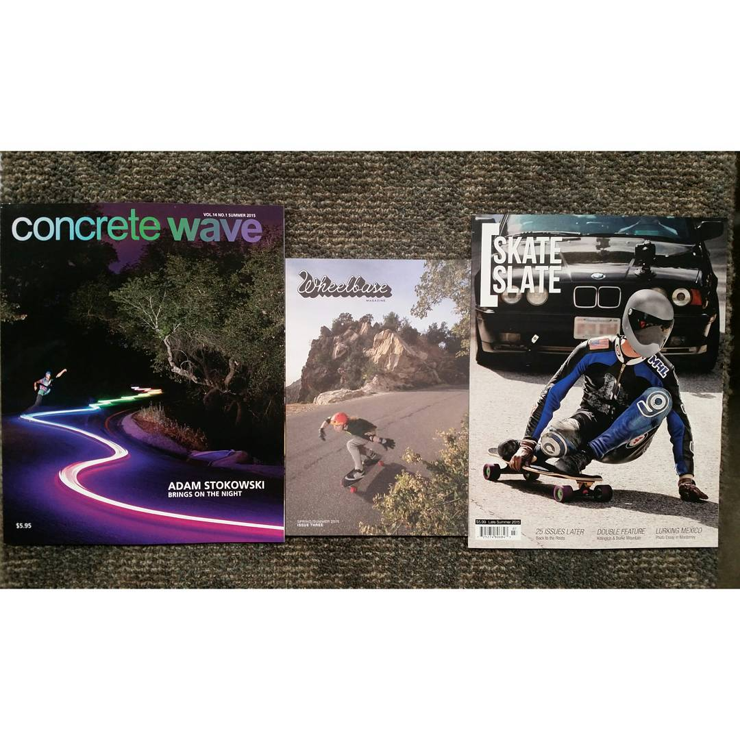 Oh would you look at that!  All of our favorite skate mags have #orangatangambassadors on the cover!  We've achieved one of our #squadgoals, next up is forming the volleyball team.  Thanks to @wheelbasemag @concretewavemag and @skateslate for the love!...