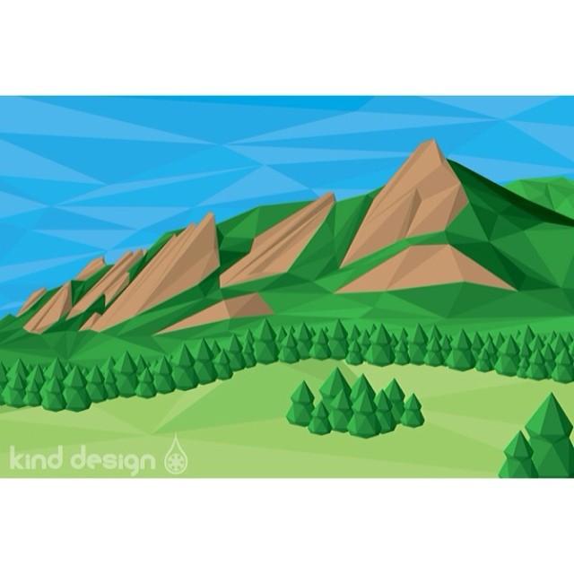#kinddesign #polyrado #flatiron #prints #comingsoon #liveyourdream #boulder #colorado #usa