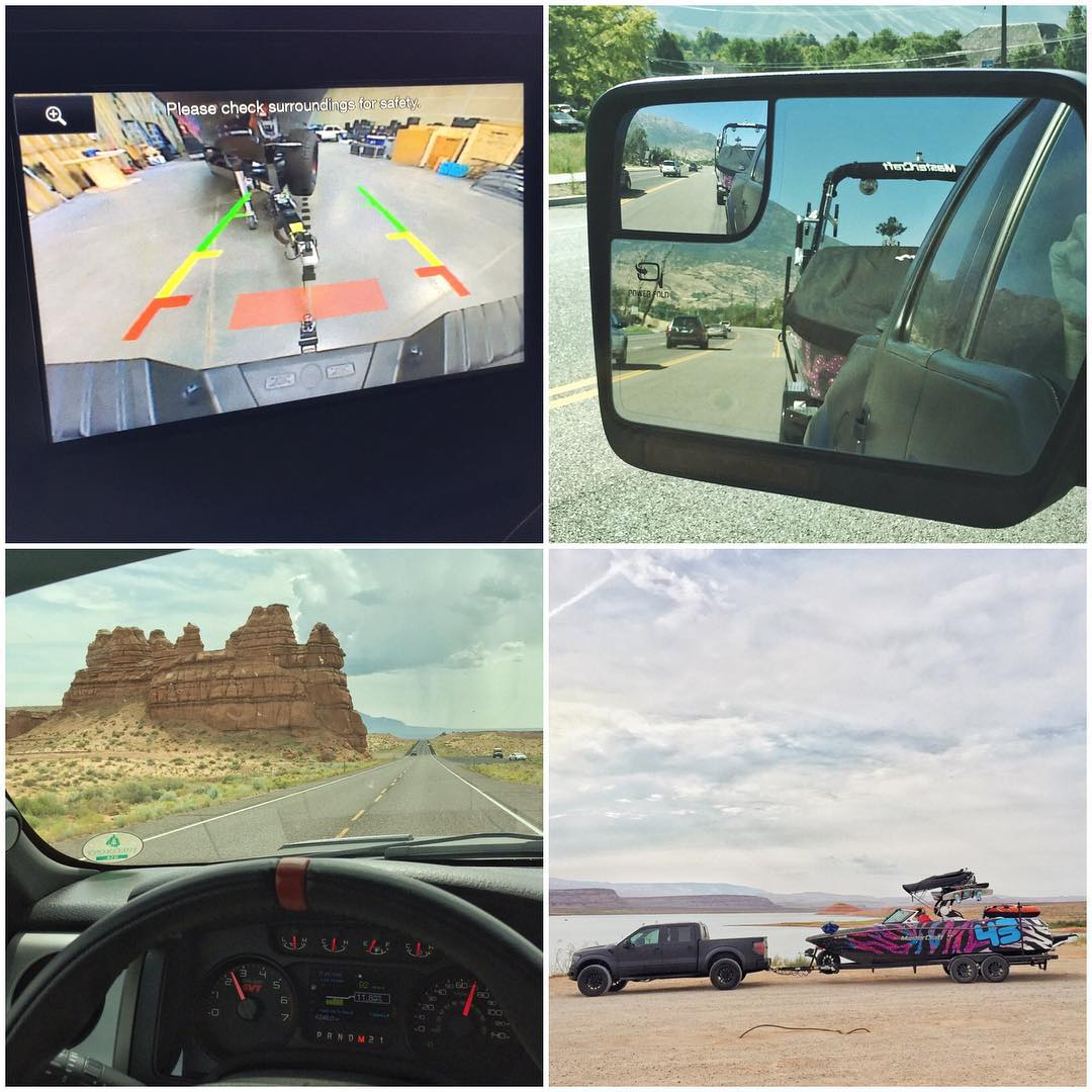 A few flicks from yesterday's travels - from hooking up the boat to my Ford Raptor at #HRD_HQ, to arriving at Lake Powell. #vacationtime #FordRaptor #LakePowell #MasterCraft2015