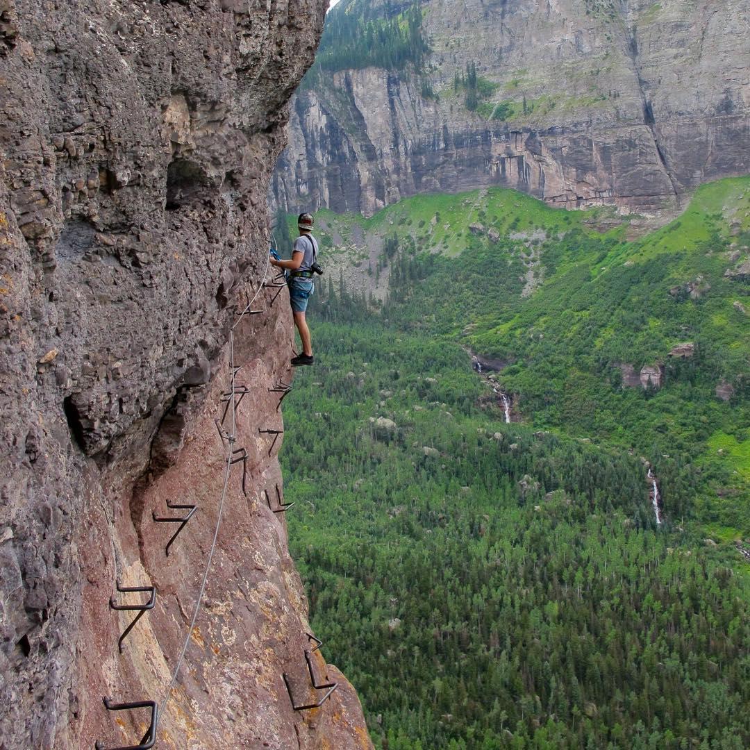 Must do easy adventure: Via Ferrata in Telluride CO. #fullpucker