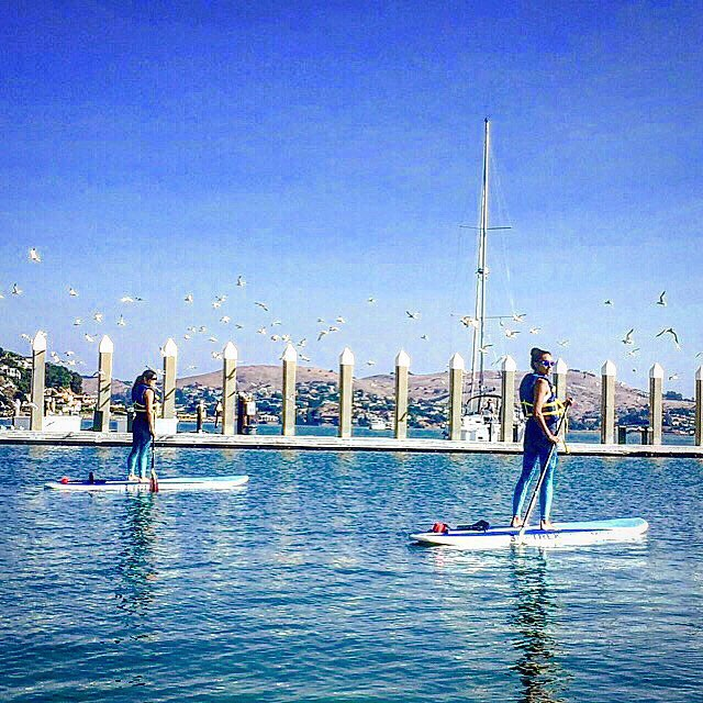 OKIINO team board meeting  #SUP #adventure @yogaonboardsup @seatrek #humpday #thisishowwedoit #boardmeeting #OKIINO