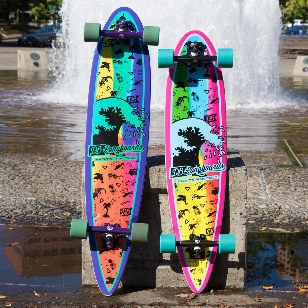 The pintail Party Wave cruisers waiting for a end of summer session. Snag one at DBlongboards.com #longboard #longboarding #longboarder #dblongboards #goskate #skateboard #skateeveryday