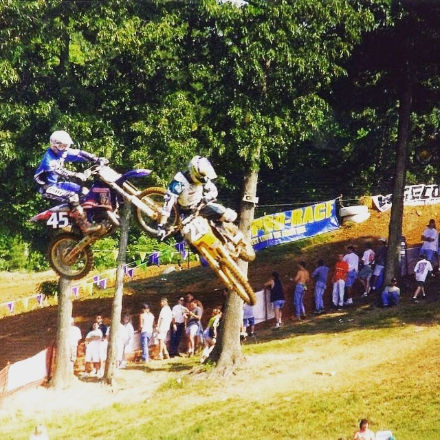 #TBT when I raced outdoors Mx. National #28 . Throwing whips during the #race on @motoxxxofficial Team. was ready for something more . Then we created #fmx and blew up #actionsports and the rest is history. Maybe I will do a documentary someday.  Like...