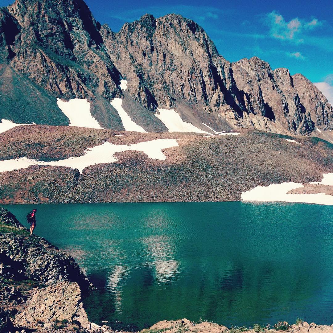 Take me back to #sloanlake just below #handiespeak by #ouray, #colorado! #alpinelakes #travel