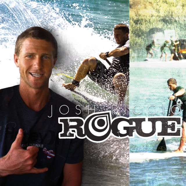 @joshriccio joins #RogueSUP. Great surfer and downwinder and a great addition to this 2014 team. #sup #standup #team