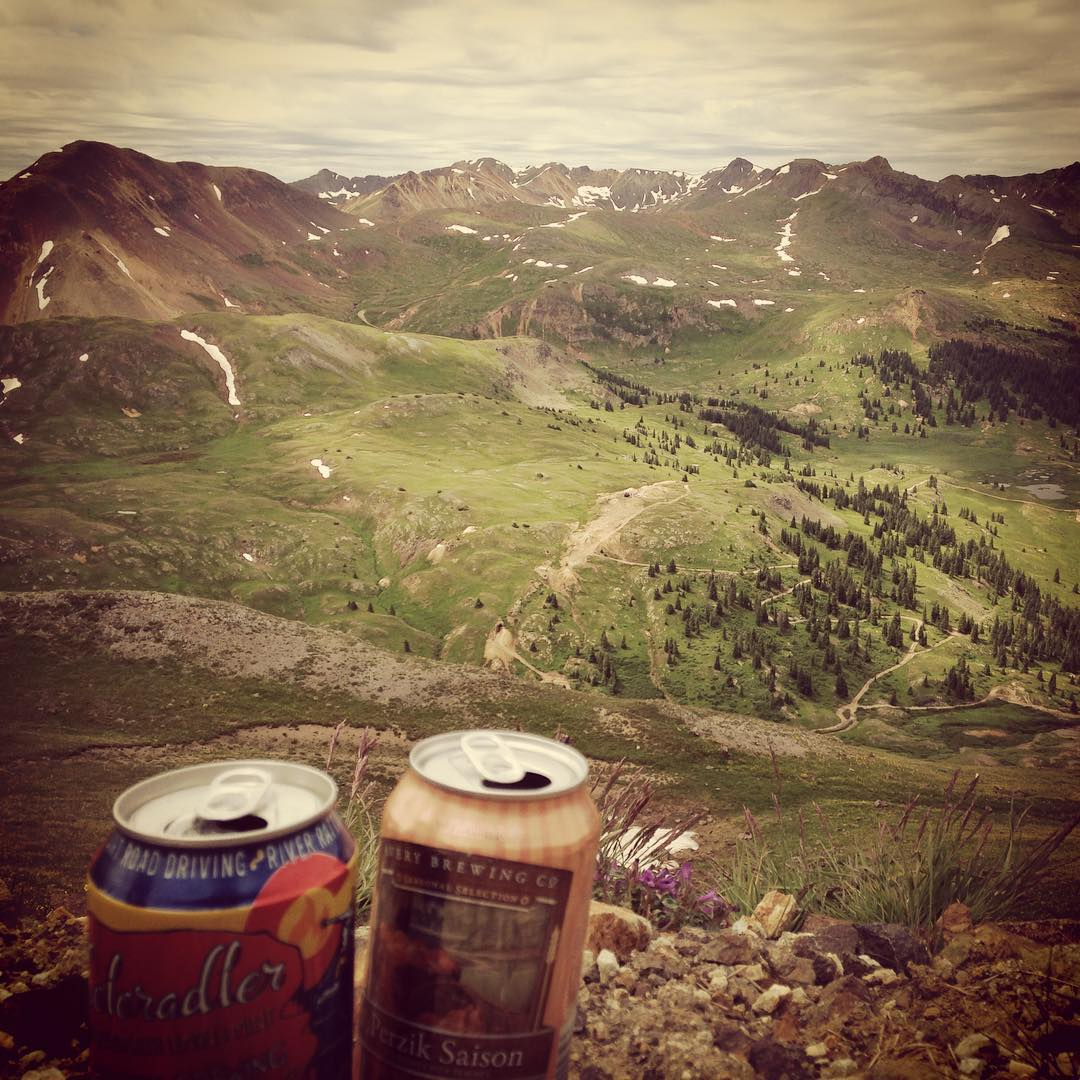 A #brew with a #view in #ouray, #colorado! #travel #backpacking #mountains @averybrewingco