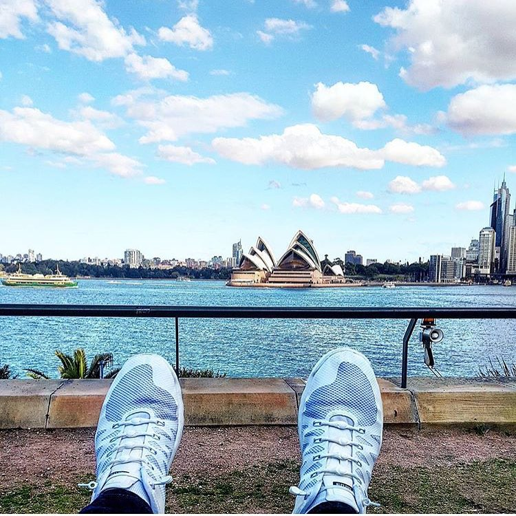 We can't decide what's better... Those squeaky clean kicks or that #Sydney view!