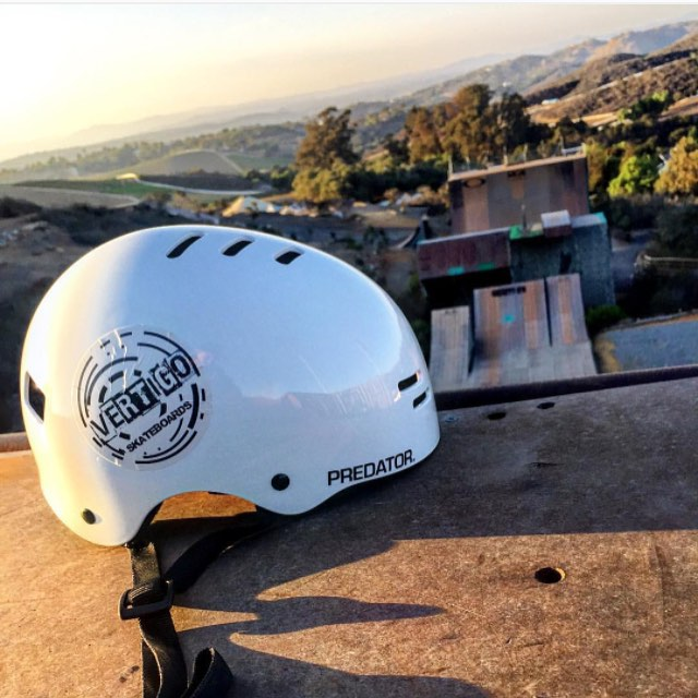 Really stoked to see our new #sk8 helmet sitting at the top of Bob Burnquist's mega ramp! Regram from our flow rider @leoruizskt #predatorhelmets #originalpredatordesign