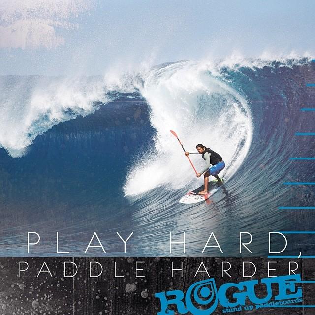 PLAY HARD | PADDLE HARDER @fernandosup #charging #hard! #teahupoo