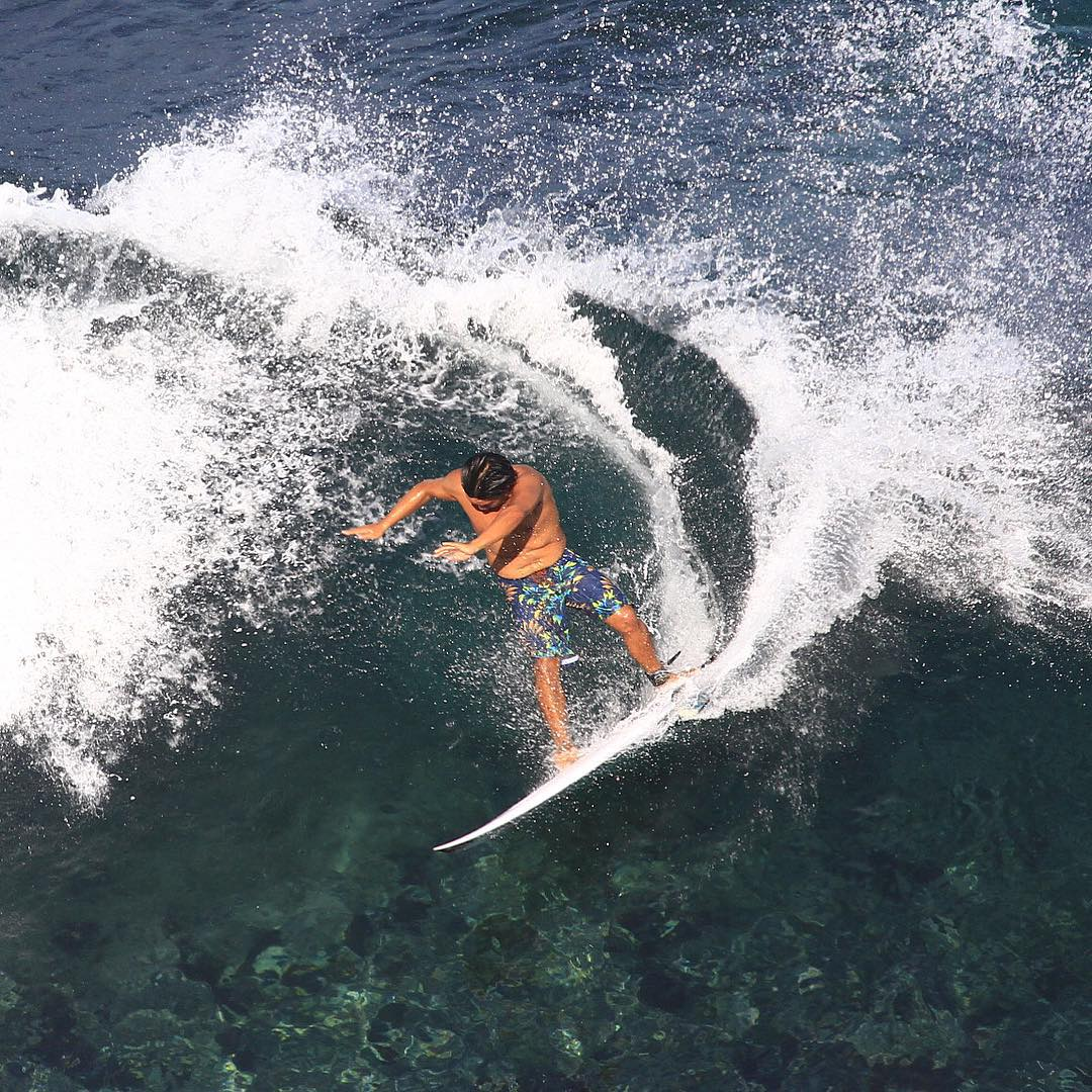 "Bird's eye view of Burger in Bali wearing the ...Lost ""Pounders"" boardshorts. Available @whalebonesurfshop @westcoastsurfshop @waterbrothers @tropicalrush @swell @surfsidesports @sunsationbelmar @sundiegoboardshops #SuncatcherSurfShop..."