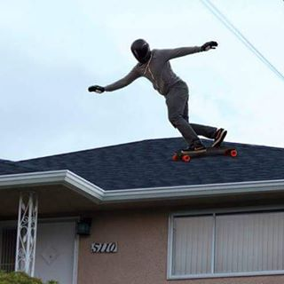 Take your skating to new levels, like this Roof Level for example!  #orangatangambassador @chimsnert ain't afraid to try anything twice!  Growing up as a roofer (very different than someone who deals in roofies) Kurtis is no stranger to danger on the...