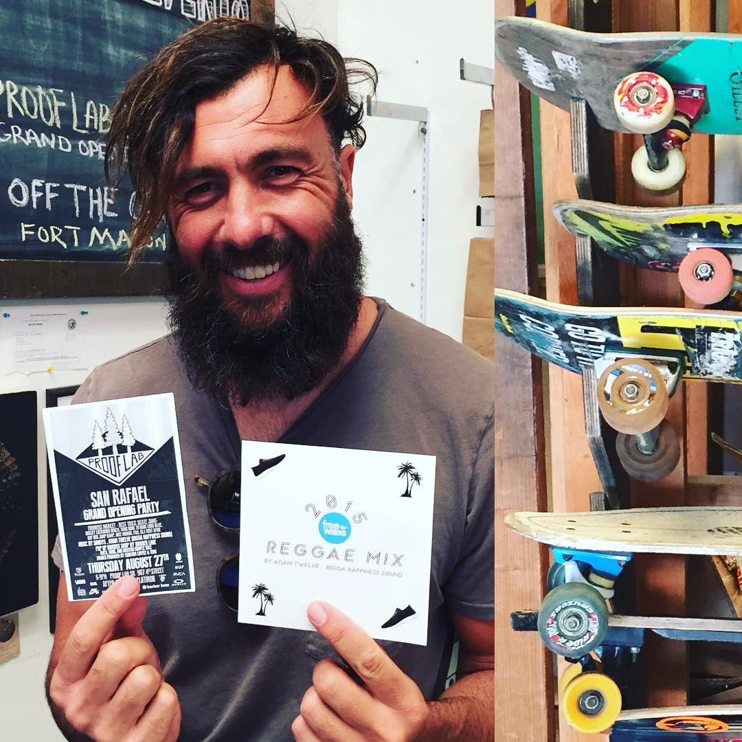 *special skater edition* Come on out to the grand opening party of the new @prooflab store in San Rafael tonight from 6-9 pm...and pick up one of these new reggae remix albums from prooflab's own DJ @adam.twelve while listening to SF's own @sandysband...