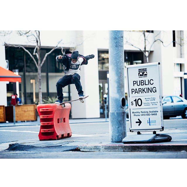Happy Birthday @Domowaka! Live it up G! >>> Noseslide in SF from a few trips back shot by #ElementAdvovate #BrianGaberman #ElementAms #dominickwalker