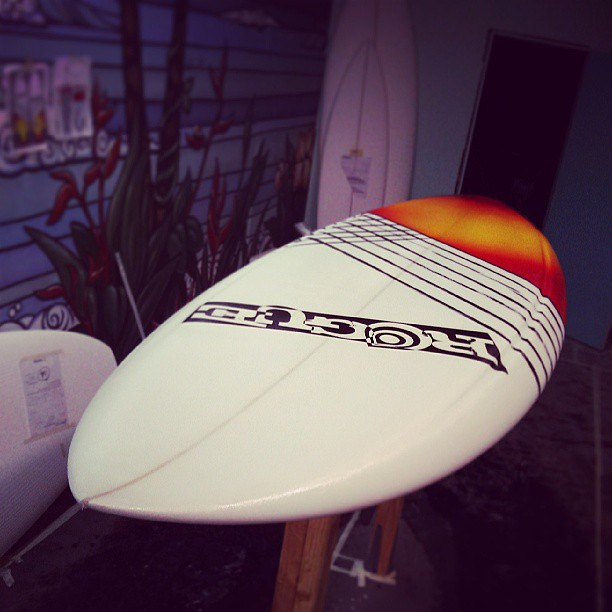 Glass is drying! Then she'll be ready for summer! #sup #standuppaddleboards #surf