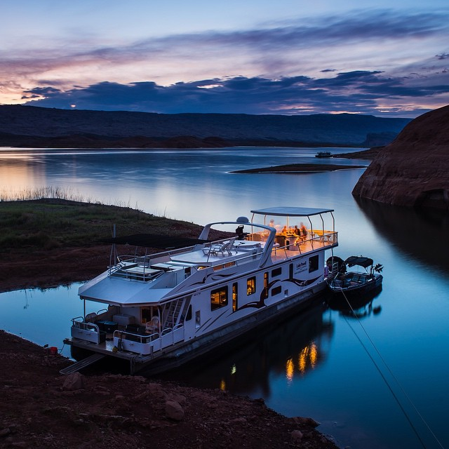 Goodnight from our base camp here at Lake Powell in Utah. Lots of flipping, exploring, and wakeboarding to do tomorrow behind the wheel of my custom intergalactic @MCBoatcompany X30! @roncar photo. #mastercraft2015 #lakepowell #sopurdy #lakeglamping