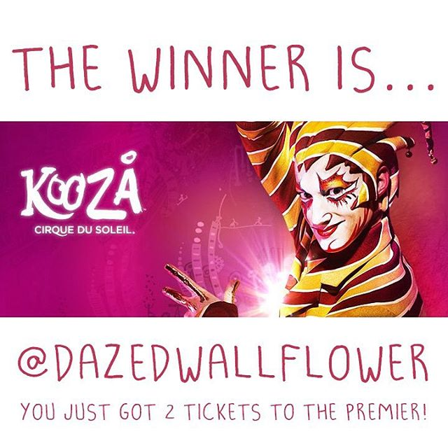 "Congratulations @dazedwallflower ! • • You are the winner of two tickets to the Austin TX. premier of @cirquedusoleil #KOOZA !! Please email us at info@SPRATX.com so we can get you your prize! • • If you ""Found the Trickster"" this past week for..."