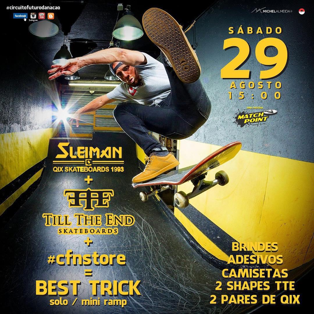 Não perca! Amanhã (29/08) rola tarde de autógrafos com @fabiosleiman e Best Trick na Mini Ramp do Circuito Futuro da Nação, localizada na Rua Silva Bueno, 2496 - ao lado do Metrô Sacomã, em São Paulo.  #qixteam #qix #skate #skateboard