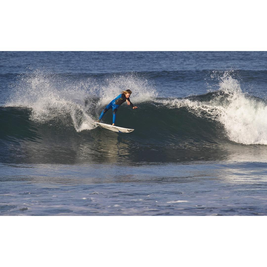 Big boy rail game from the frothiest grom around! @_jacksonbutler making quick work of some miniature pulse at Lowers this past week. With swell forecasted for Southern California this weekend we hope you all find a couple nuggets! #GetOutThere...