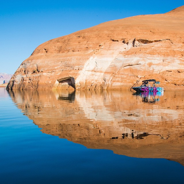 Morning lake vibes. #LakePowell #Mastercraft2015 #naturalpikbergeffect