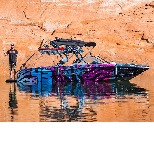 All-natural glamour shot before we take this thing out for the day. #LakePowell #Mastercraft2015 #betterthanastudio