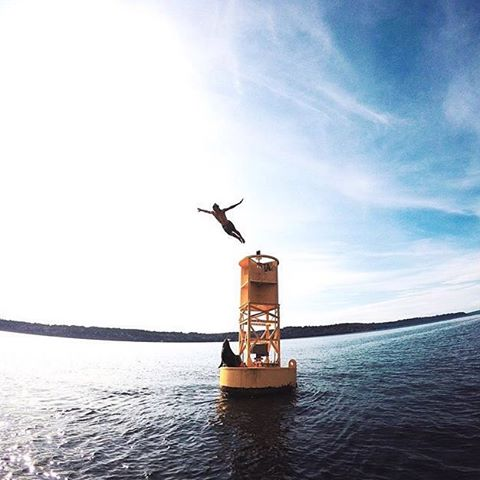 TGIF!! @dustinkeoni sending it over a confused seal! Tag your adventure buddy in this photo for a chance to win two DISIDUAL hats! // winner announced Monday! // #disidual #adventure #streetwear #disiduallivin #tgif #pnw #keepitwild #explore...