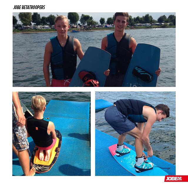 Last week Jobe Betatroopers @bramvossen & Dennis Boot tested some of the latest Jobe products: the Jobe EVO, Jobe Unify vests and the Jobe Stage Kneeboard. Did you sign up as official Jobe Betatrooper already? Stay tuned as we might invite you next...