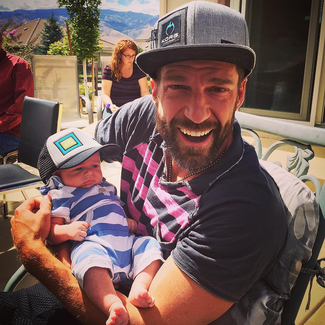 Luv this little man, #AsherEvens!!! #UncleKorg mode from ear-to-ear with @bigtruckbrand babies in da house, at my Niece #AbbaDabbaDorables' 2nd Bday party!!! Photo: @bridgeevans   #HappyBirthday #AbbyHansen!!