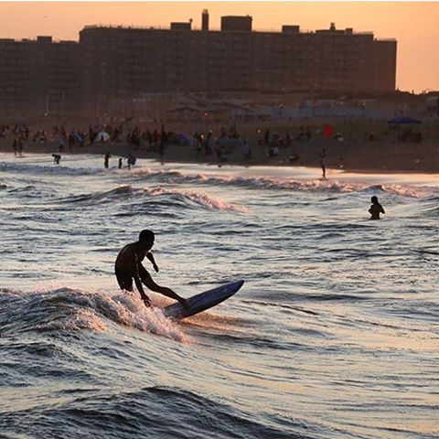 Nice shot from the @nytimes of a surfer out on #RockawayBeach #rockawaysummer