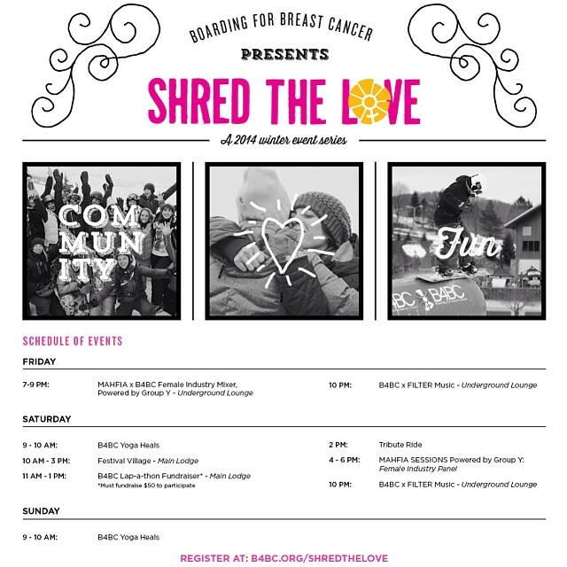 What better way to celebrate #ValentinesDay than to #ShredTheLove with B4BC?! SAVE THE DATE on March 21-23 for this amazing event at #MammothMountain with live music, B4BC Yoga Heals, a tribute ride, an exclusive panel of female industry speakers and...