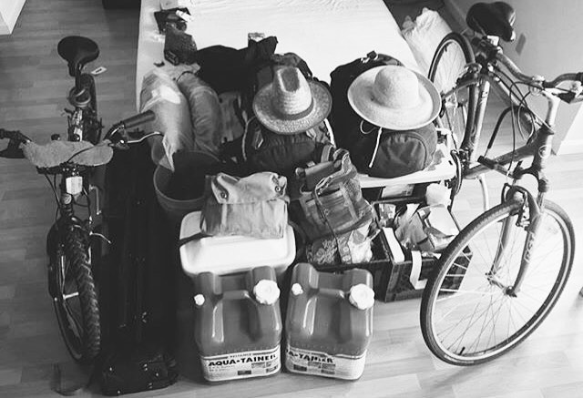 Packing for @burningman // It began in San Francisco's Baker Beach in 1986 and migrated to the Black Rock Desert in northern Nevada. To see the rest you have to be there. #outoftheoffice #survivalkit #burningman