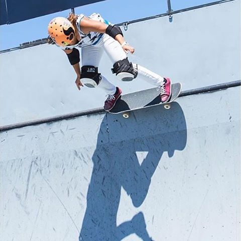 @huntahlong at the @supergirlpro #vert comp a few weeks ago #xshelmets #xsteam #hunterlong #skate #supergirlpro