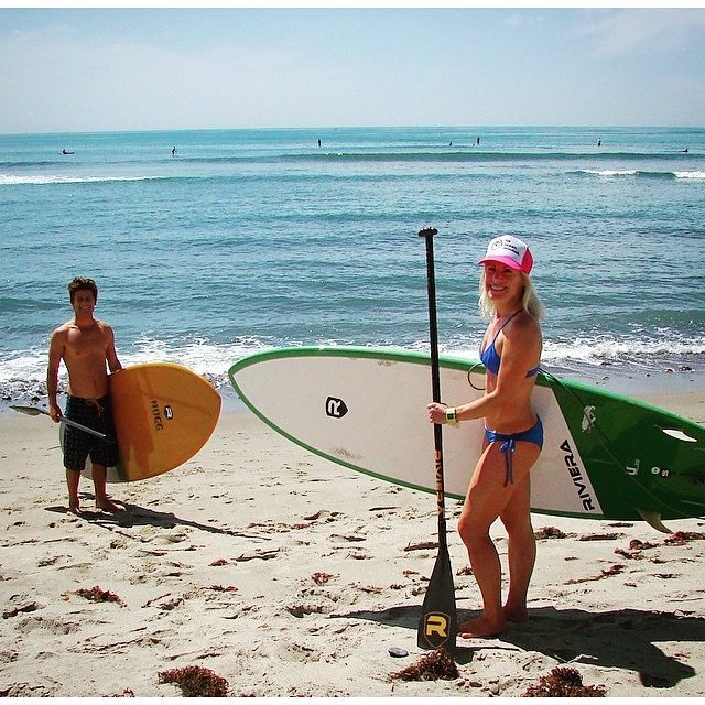 #miolagirls #getoutthere with their family || @smskier in our Double String Bottoms & Pin-up Top hangin' with her bro
