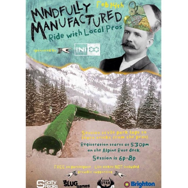 Come on out to @brightonresort tonight to join us for some fun laps thought the park with some of the iNi team! Lots of giveaways , jib contests and other fun stuff! #LocalSupport with @saltypeaksboardshop . @slugmag @minnesnowtafrost @evanwilcox...