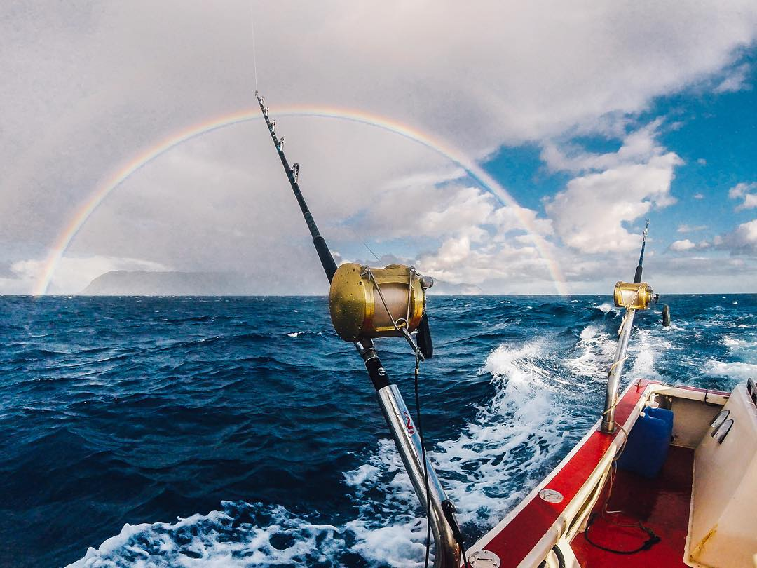 Photo of the Day! @Kaladacaptain snapped this awesome #rainbow while casting for ahi tuna outside Kaena Point on Oahu. Make sure to follow @KalaAlexander for more #Hawaiian adventures! #GoPro