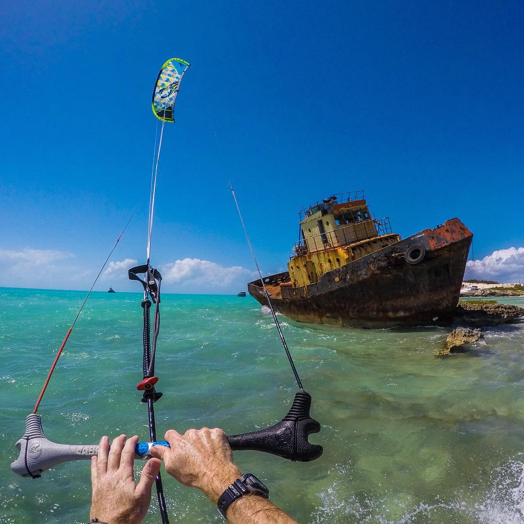 Kitesurfing with @Waterlust  About the Shot: We got to go #kitesurfing in some secret spots around the Turks and Caicos. The water there is insanely beautiful and the coastline is covered with shipwrecks! Kiting is one of our favorite ways to explore...