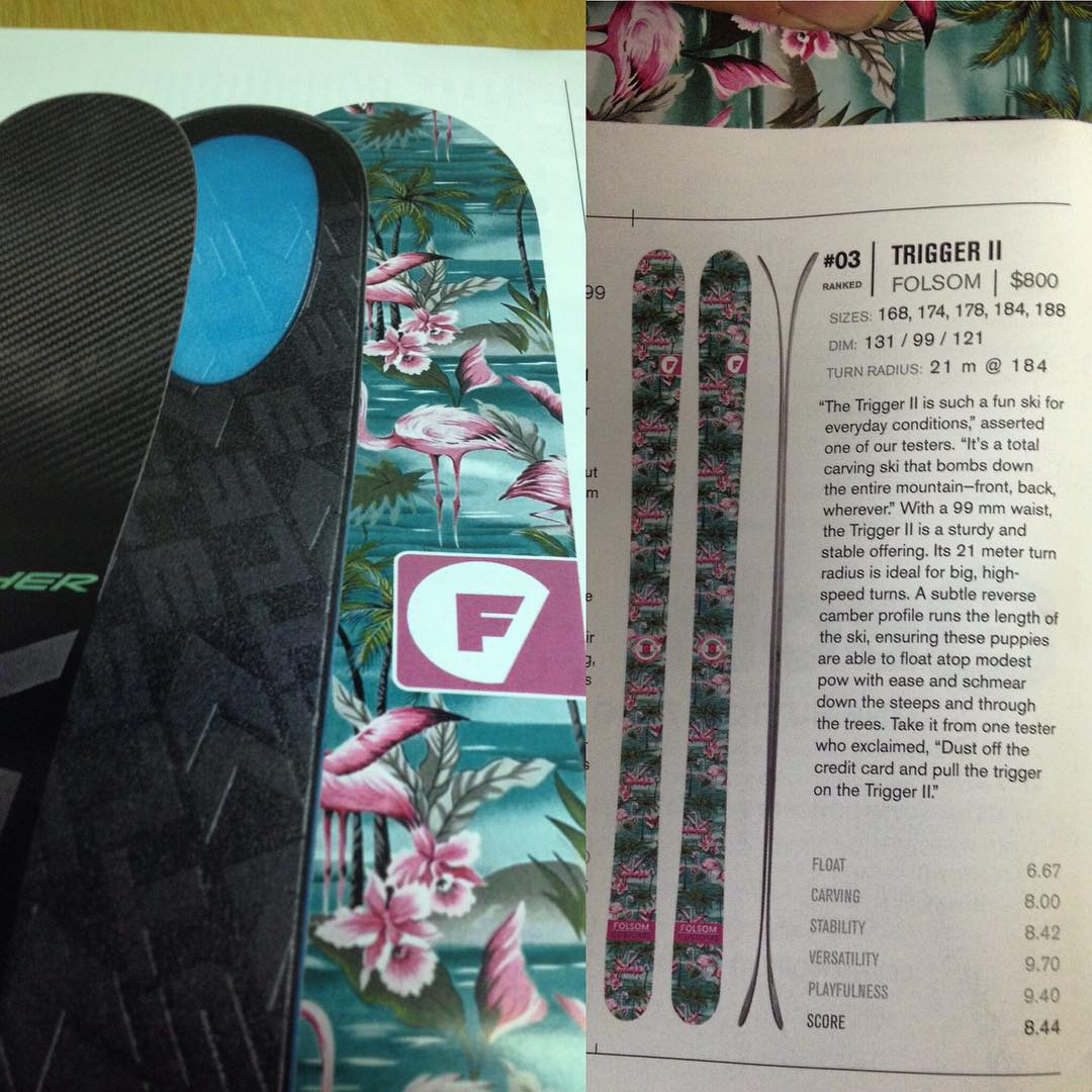 The reviews are in and we are at the top of the class! @freeskiermagazine buyers guide is on shelves now. Here is one of the many awards we received! Our Trigger II got the number 3 spot for 90-99mm Freeride skis. Grab a copy of the most comprehensive...