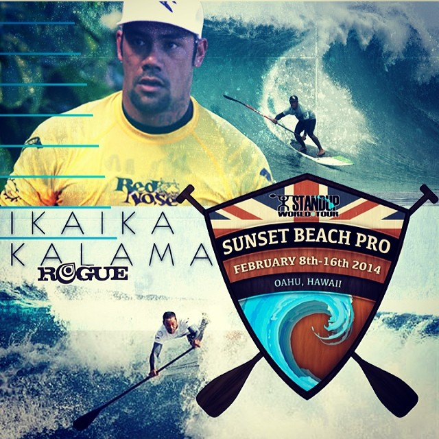 @ikaikakalama makes #standupworldtour Sunset Beach Pro QUARTER FINALS heat 30 watch it LIVE NOW at watermanleague.com @watermanleague @roguesup #team #sunsetbeach #mainevent