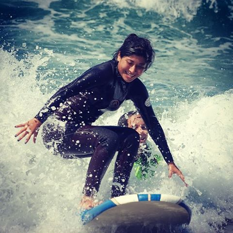 Surfing helps our students learn to be self reliant, confident and face their fears.
