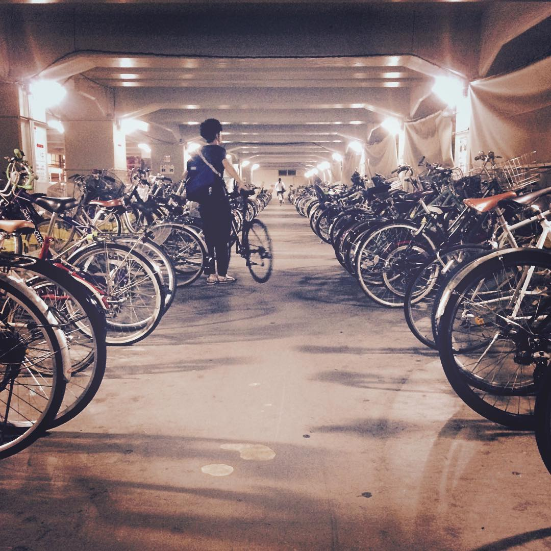 Welcome to #Tokyo // happy faces, lots of bikes and Mafia bags.