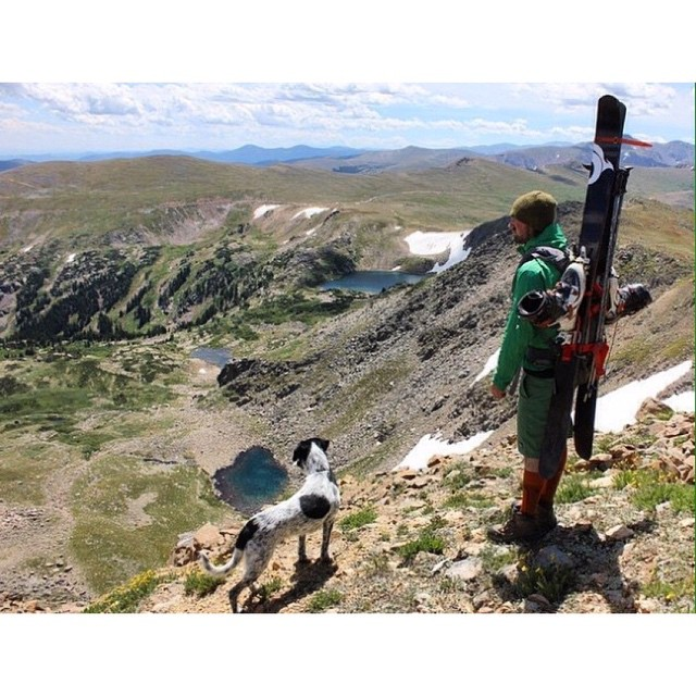 It's slim pickings out there, but if you walk long enough...... (Good thing these guys are carbon!) #Colorado #coloradogram #skiing #skis #migrateskis #carbonfiber #explore #adventure #backcountry #rollinspass #climbing #hiking #summer