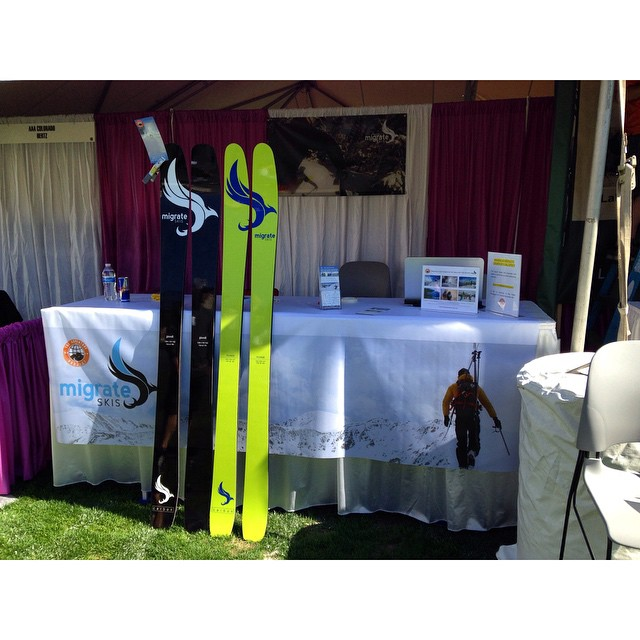 We're down in Glendale today at the Amazing Adventures expo in Infinity Park!! Get down here!! #migrateskis #carbonfiber #denver #colorado